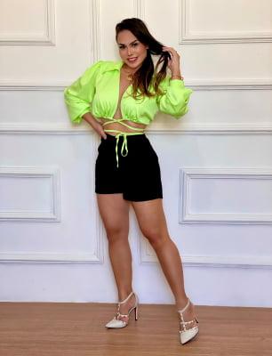 Blusa Cropped Layla - Verde Lima