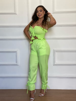 Conjunto Maria - Verde Lima