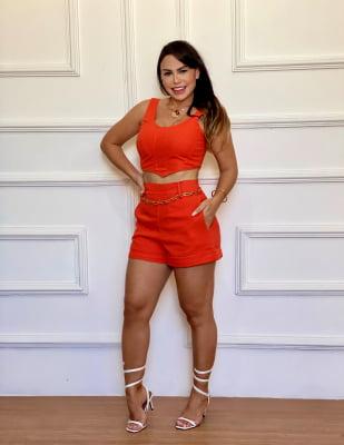 Short Mirna - Laranja